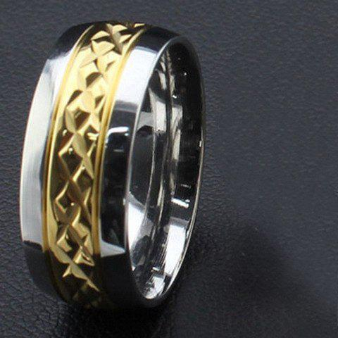 One Piece Punk Style Rhombic Gold Plated Alloy Men's Ring - GOLDEN