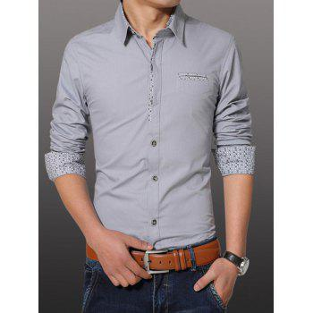 Men's Fashion Plus Size Turn Down Collar Shirt