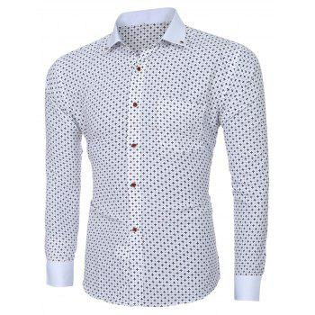 Men's Stylish Turn-down Collar Printing Long Sleeves Shirt