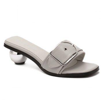 Stylish Buckle and Strange Heel Design Women's Slippers