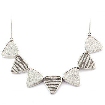 Fashion Zebra Striped Triangle Snake Chain Fake Collar Necklace For Women