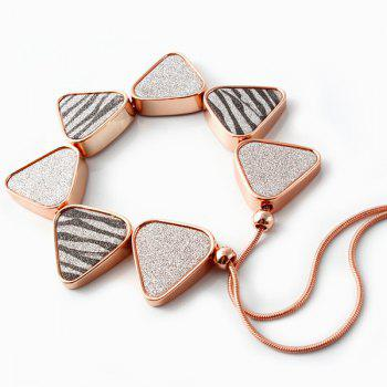 Fashion Zebra Striped Triangle Snake Chain Fake Collar Necklace For Women - ROSE GOLD