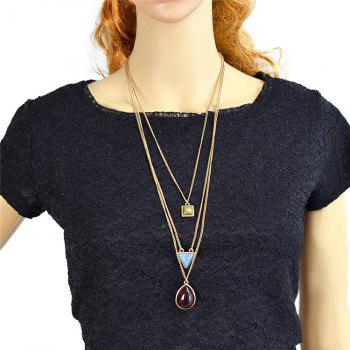 Geometric Water Drop Sweater Chains -  GOLDEN