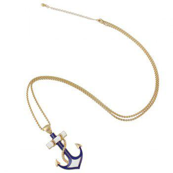 Cross Anchor Sweater Chain