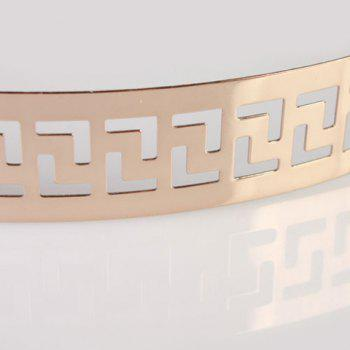 Chic Hollow Out Retro Palace Style Carve Women's Alloy Waistband - GOLDEN