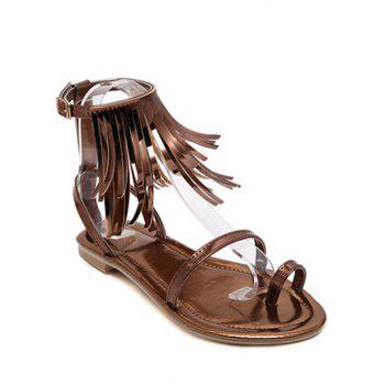Toe Ring Fringe Flat Sandals