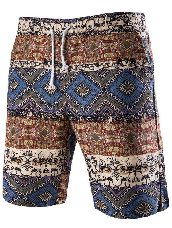 Short de Bain À İmprimé Tribal - Bleu 2XL