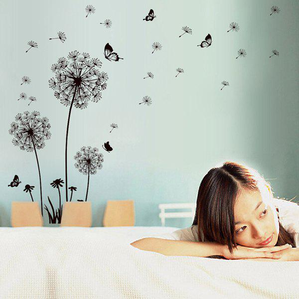 Stylish Black Dandelion Pattern Wall Sticker For Livingroom Bedroom Decoration black dandelion wall sticker wallpaper page 3
