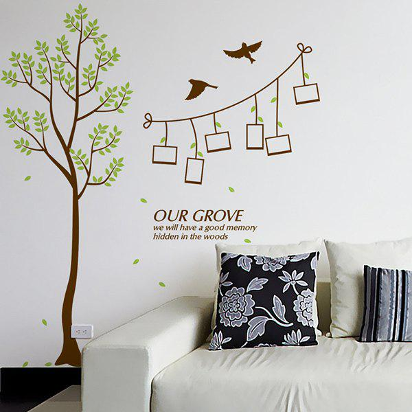 Stylish Green Tree Pattern Photo Wall Sticker For Livingroom Bedroom Decoration - COLORMIX