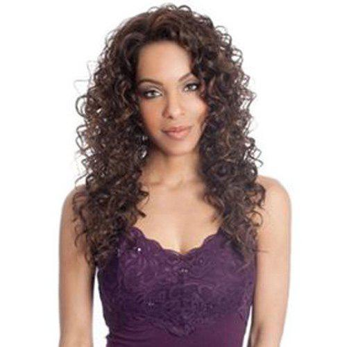 Fluffy Curly Heat Resistant Fiber Stylish Long Brown Mixed Capless Wig For Women - COLORMIX