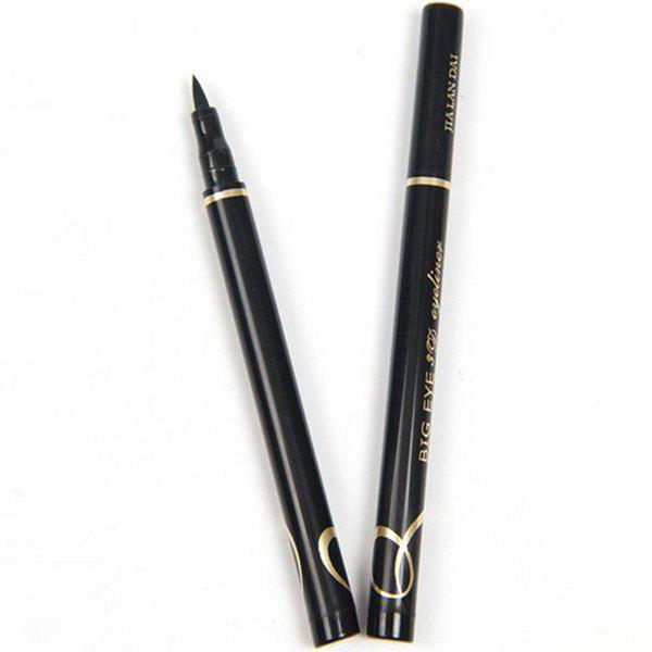 Natural Black Smooth Fast Dry Smudge-Proof Waterproof Soft Liquid Eyeliner Pencil