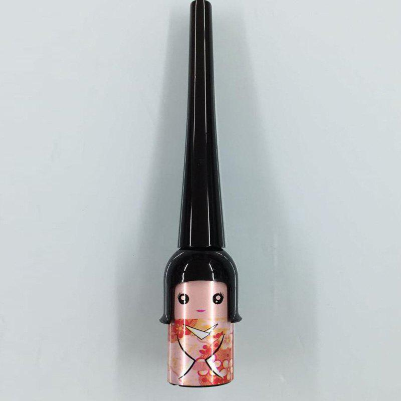 Natural Lucky Black Smooth Long Lasting Smudge-Proof Waterproof Liquid Eyeliner - ORANGEPINK