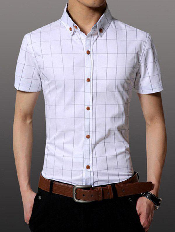 Men's Casual Plus Size Plaid Printing Shirt