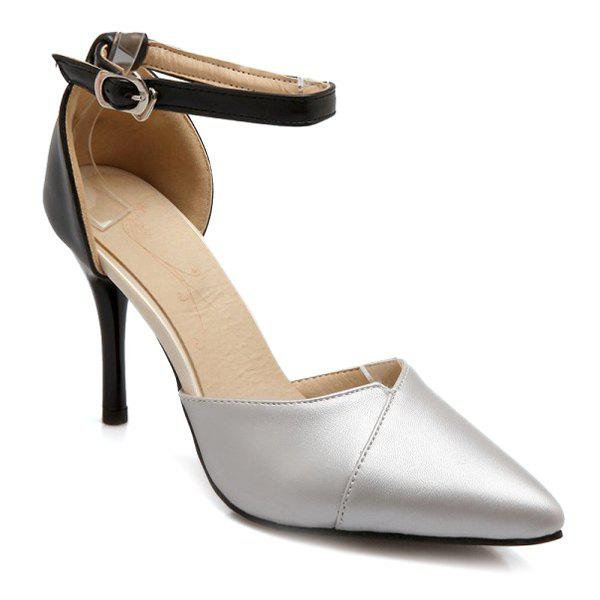 Trendy Two-Piece and Hit Color Design Women's Pumps - 39 SILVER