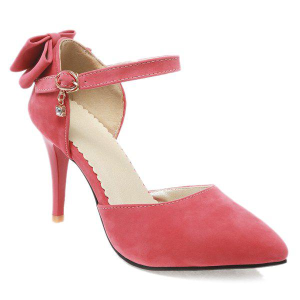 Elegant Bowknot and Two-Piece Design Women's Pumps - WATERMELON RED 38
