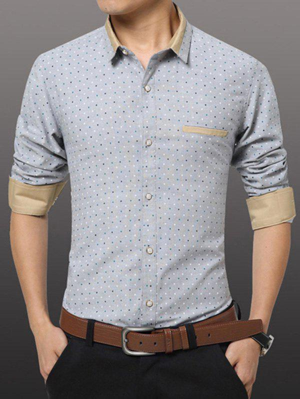 Casual Plus Size Men's Dot Printing Shirt