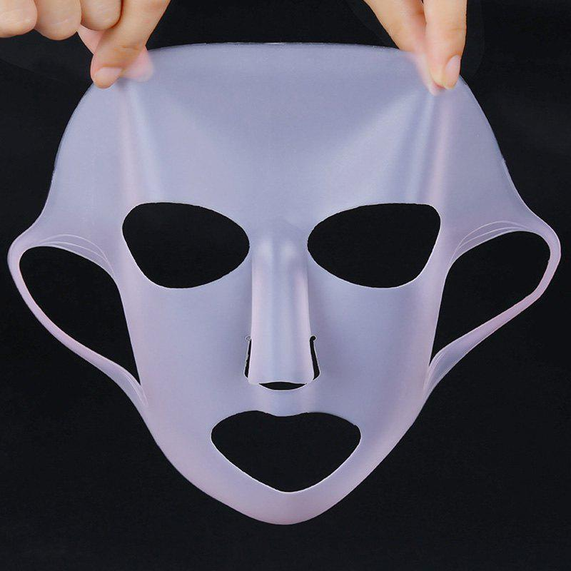 Practical Mask Face Care Tool Moisturizing Silicone Facial Mask Cover - WHITE