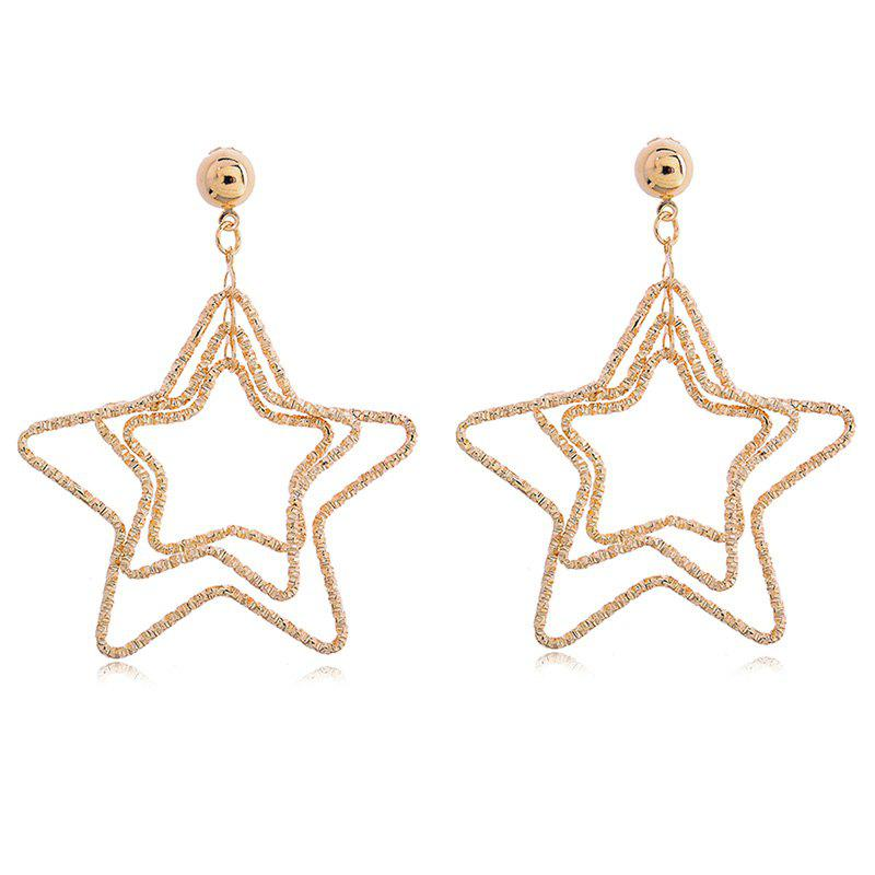 Pair of Vintage Multilayered Star Earrings For Women