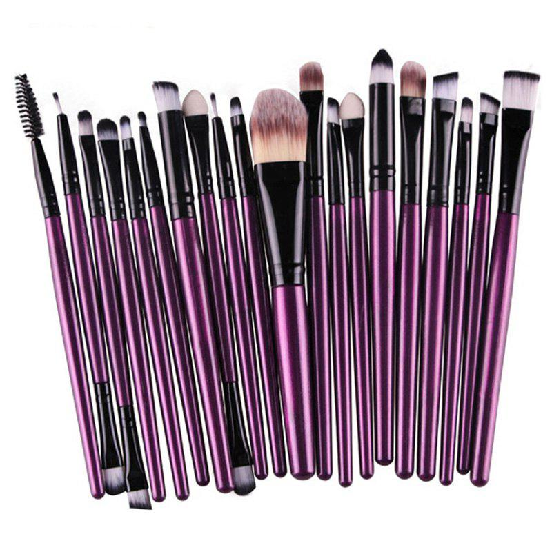 Image result for Practical 20 Pcs Multifunction Plastic Handle Nylon Makeup Brushes Set