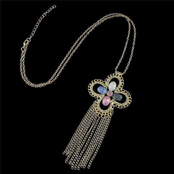 Chic Embellished Cross Sweater Chain For Women