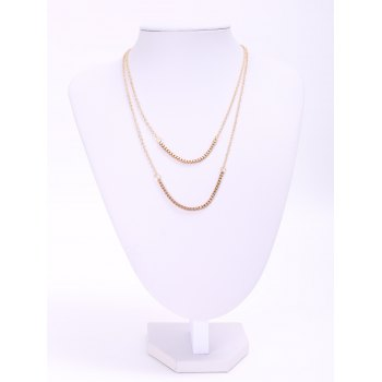 Stylish Chic Women s Bilayered Link Necklace