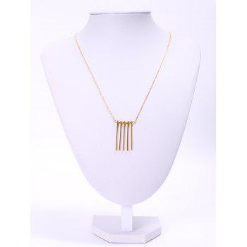 Stylish Solid Color Bar Women's Pendant Necklace