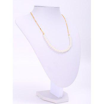 Graceful Round Faux Pearl Necklace For Women - GOLDEN