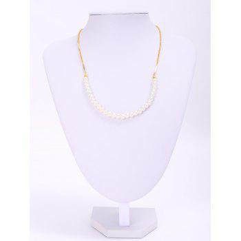Graceful Round Faux Pearl Necklace For Women