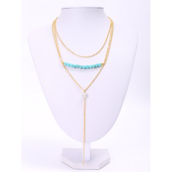 Delicate Tassel Turquoise Layered Necklace For Women