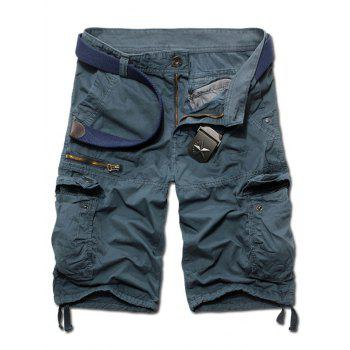 Casual Straight Leg Zipper Fly Camo Multi-Pockets Men's Shorts