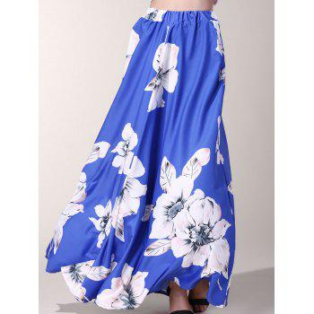 Stylish Floor-Length Flower Print Skirt For Women