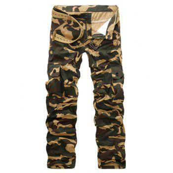Camo Multi-Pockets Zipper Fly Long Pants