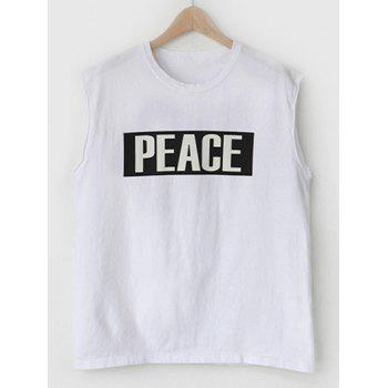 Modish Round Neck Letter Printed Tank Top For Men - L L
