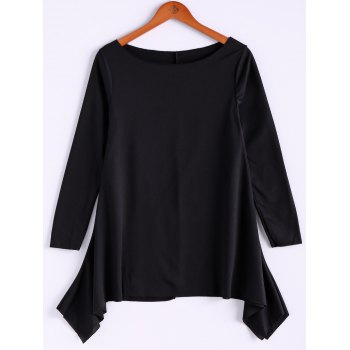 Casual Skew Collar Long Sleeve T-Shirt For Women
