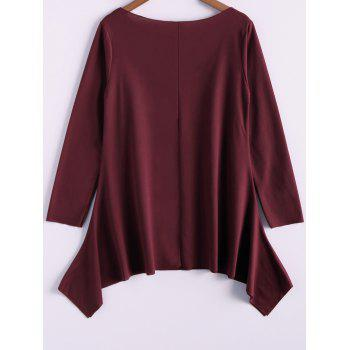 Casual Skew Collar Long Sleeve T-Shirt For Women - 2XL 2XL