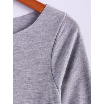 Casual Skew Collar Long Sleeve T-Shirt For Women - S S
