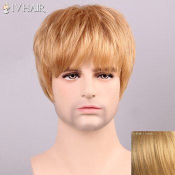 Men's Shaggy Siv Hair Full Bang Human Hair Wig