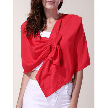 Vintage Pleated Solid Color Cloak Cape For Women