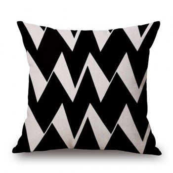 High Quality Cotton and Linen Ripple Geometric Pillowcase