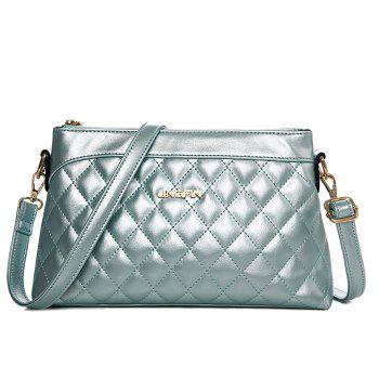 Stylish Zip and Checked Design Women's Crossbody Bag