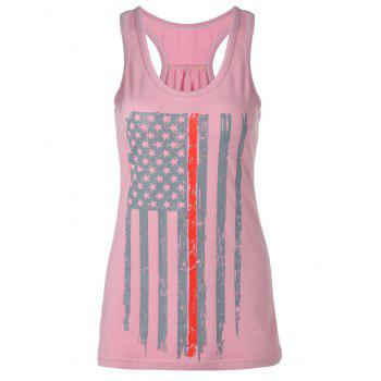 Flag Star Print Tank Top