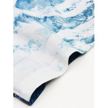 Men's Abstract 3D Iceberg Print Round Neck Short Sleeves T-Shirt - COLORMIX 2XL