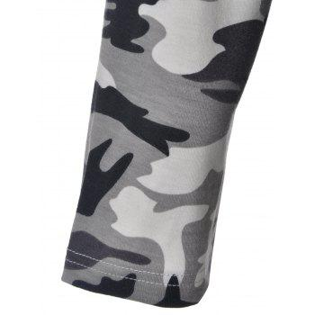 Trendy Camouflage Hooded Long Sleeve Dress For Women - CAMOUFLAGE XL