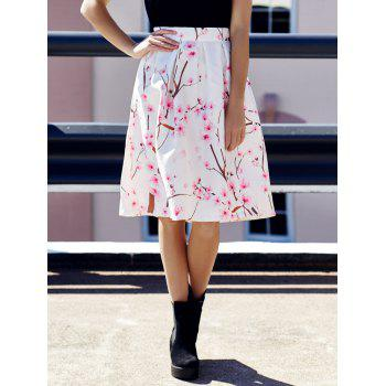 Women's Stylish Floral Print High Waist A-Line Skirt