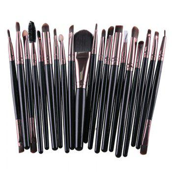 Practical 20 Pcs Multifunction Long Plastic Handle Nylon Makeup Brushes Set