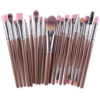 Practical Multifunction 20 Pcs Plastic Handle Nylon Makeup Brushes Set
