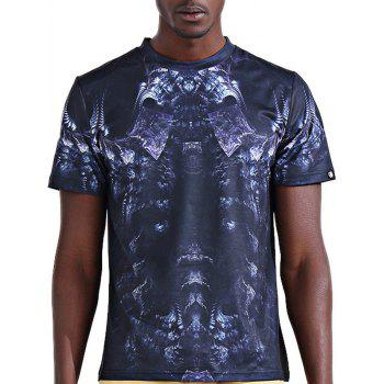 Stylish 3D Skeleton Print Round Neck Short Sleeve Men's T-Shirt