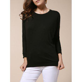 Voile Splicing Solid Color T shirt