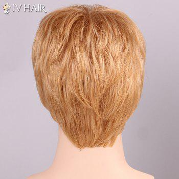 Men's Shaggy Siv Hair Full Bang Human Hair Wig - BLONDE