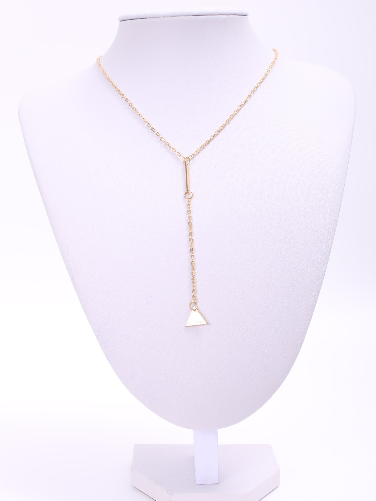 Triangle Pendant Necklace - GOLDEN